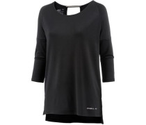 'relaxed Zen' Langarmshirt schwarz