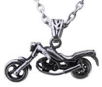Halskette »Motorrad« silber