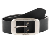 Ledergürtel 'used cow leather belt' schwarz