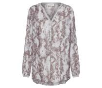 Bluse weiß / grau