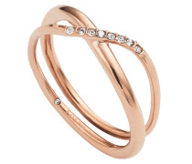 Ring mit Glassteinen gold