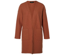 Merinowoll-Strick-Cardigan orange