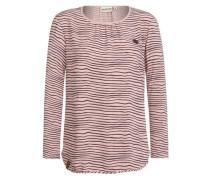 Female Sweatshirt 'Oma auf dem Opa II' braun / altrosa