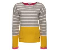 Pullover 'G Pullover knit ls Hillview' gelb / grau / weiß