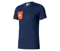 T-Shirt 'Tiro 17 Ay2964' blau / hellorange
