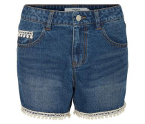 'nw' Spitzen-Jeansshorts blau