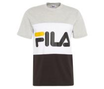 T-Shirt mit Logo-Print hellgrau / schwarz / weiß