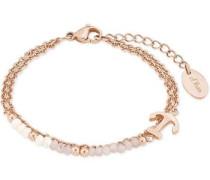 Armband 'Anker 2018350' rosegold / weiß