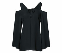 Bluse mit Cut-Outs schwarz