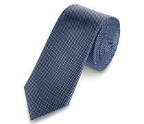 S.OLIVER PREMIUM Seidenkrawatte mit Jacquardmuster blau