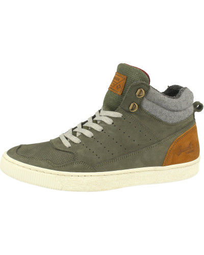 Sneakers cognac / oliv