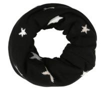 Schlauchschal mit Sternen schwarz