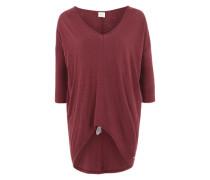 V-Neck Shirt 'Camel' rot
