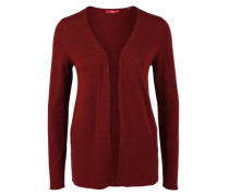 Lange Strickjacke in Viskosemix rot