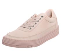 Sneaker aus Leder rosa