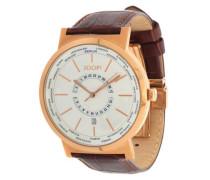 Armbanduhr 'Origin World Timer' braun / gold