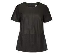 Bluse Leder- schwarz