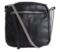 Lederimitat Überkreuz Tasche schwarz