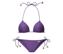 Triangel-Bikini dunkellila