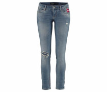 Skinny-fit-Jeans 'marylin' blau / blue denim