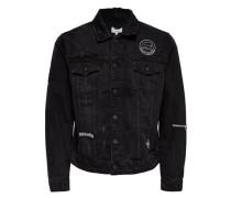 Jeans-Jacke schwarz