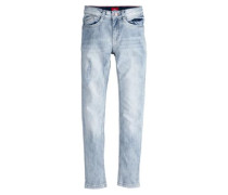 Helle Used-Jeans 'Skinny Seattle' blue denim / hellblau