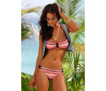 Bandeau-Bikini braun / orange / apricot / lachs