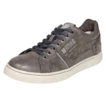 Sneaker in Leder-Optik dunkelgrau