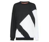 Chiffon Sweatshirt schwarz / weiß