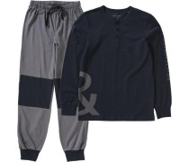 Schlafanzug grau / schwarz
