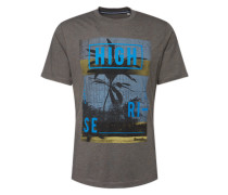 T-Shirt 'graphic Tee' blau / grau