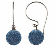 Paar Ohrhaken blau / silber