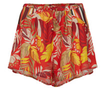 Luftige Shorts 'Monsoon Leaves' orange