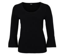 Feinstrick-Pullover im Ringel-Look schwarz