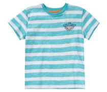 Baby T-Shirt für Jungen türkis / dunkelblau / orange / weiß