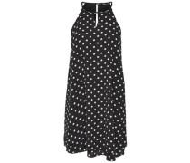 Neckholder-Kleid ohne Ärmel schwarz / weiß