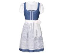 Dirndl 'nadia' blue denim / weiß