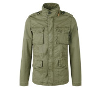 Twill-Jacke im Military-Look khaki
