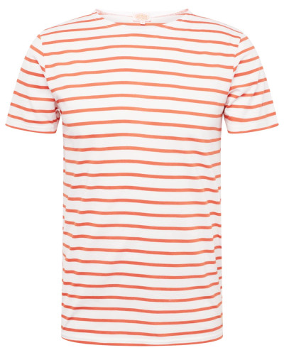 Shirt 'Hoëdic' orange / naturweiß
