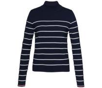 Pullover »Ivy STP Mock-Nk Swtr« dunkelblau / weiß