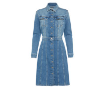Kleid '70S High' blue denim