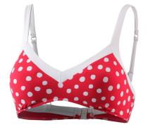 'Spot On' Bikini Oberteil kirschrot