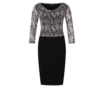 Kleid im Materialmix schwarz