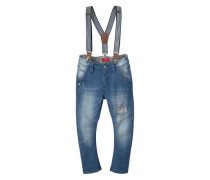 5-Pocket-Jeans mit Hosenträgern blue denim