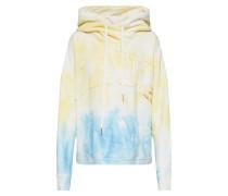 Sweatshirt 'batik' blau / gelb