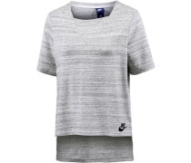 T-Shirt 'Advanced Knit' graumeliert
