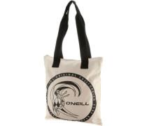 'summer Surfival Bag' Shopper schwarz / naturweiß
