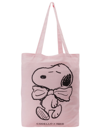 Stoffbeutel mit Peanuts Snoopy rosa