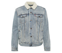 Jeansjacke 'type 3 Sherpa Trucker' blue denim