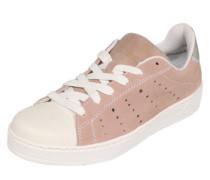 Sneaker in Veloursleder rosé / weiß